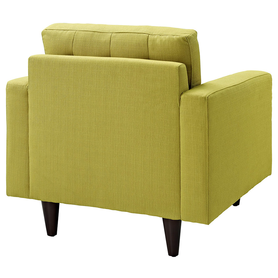 Enfield Wheatgrass Modern Lounge Chair - Back View