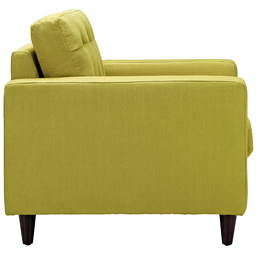 Enfield Wheatgrass Modern Lounge Chair - Side View