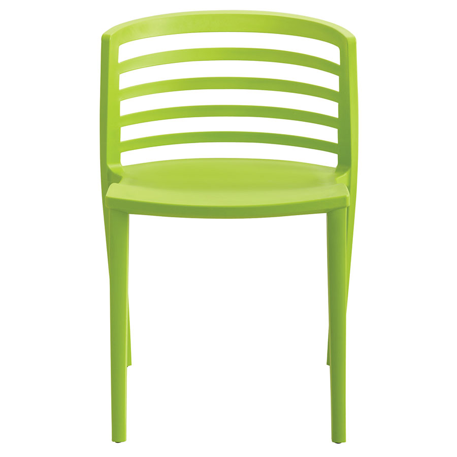 Enigma Modern Green Outdoor Chair - Front View