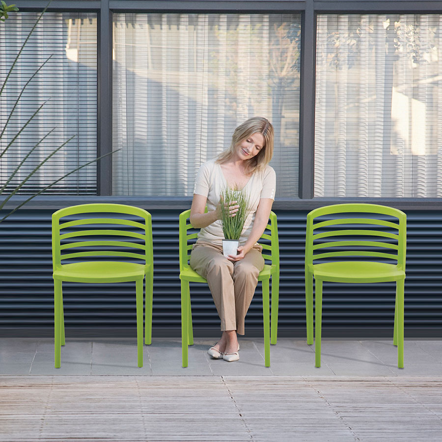 Enigma Modern Green Outdoor Chairs