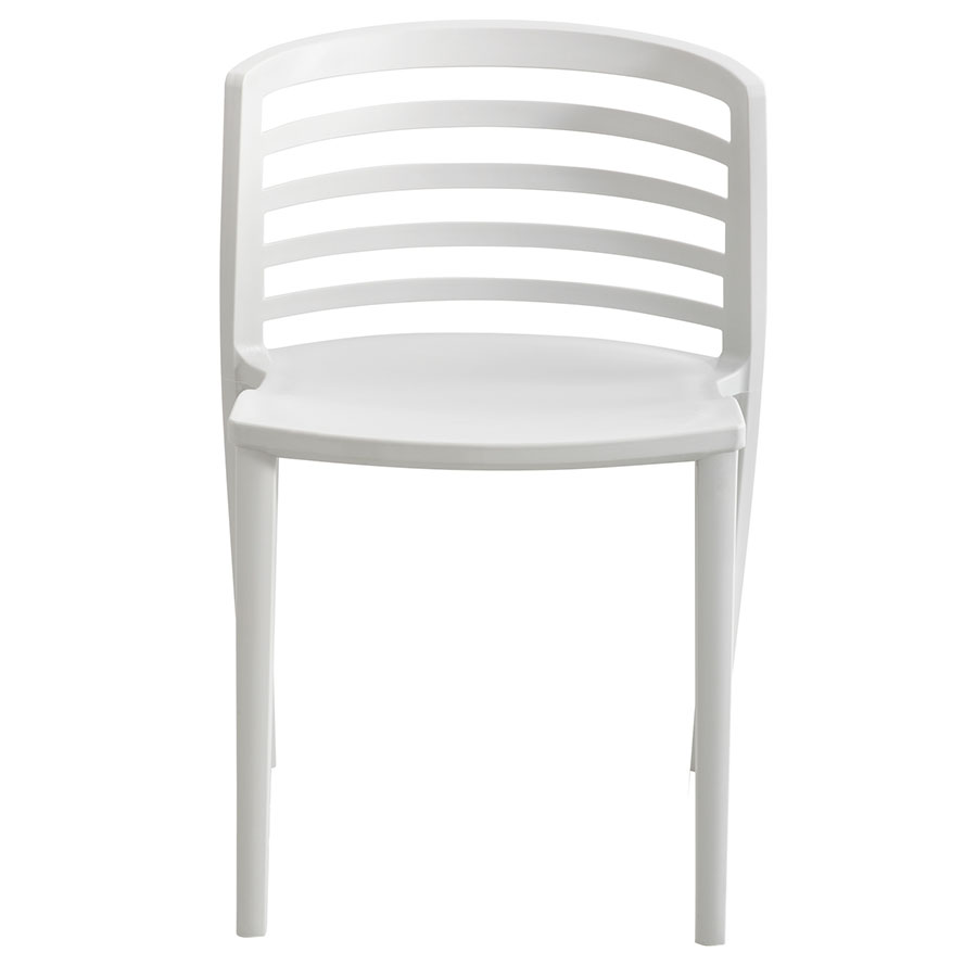 Enigma Modern Light Gray Outdoor Chair - Front View
