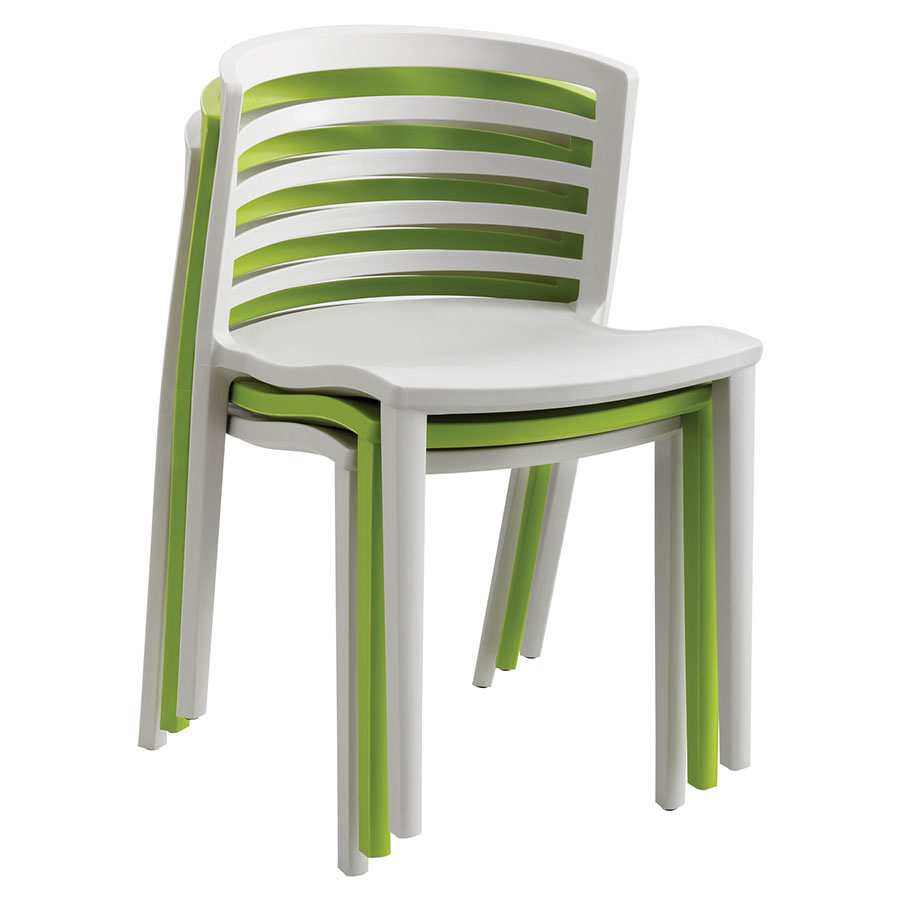 Enigma Modern Light Gray Outdoor Chair - Stacked