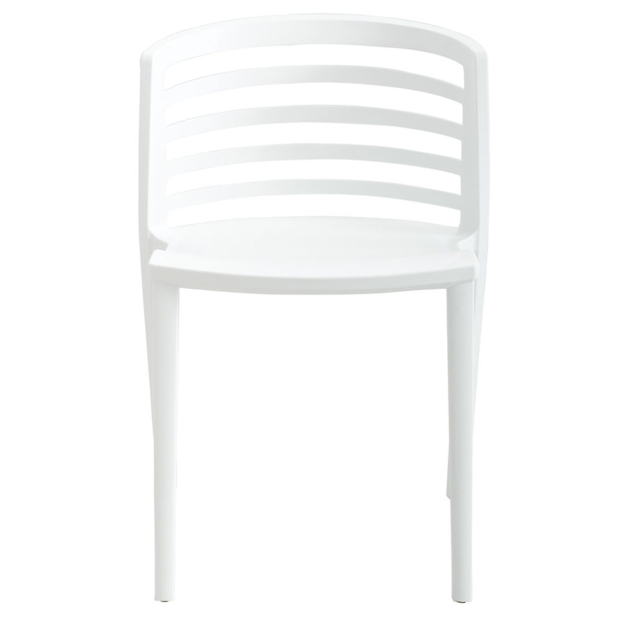 Enigma Modern White Outdoor Chair - Front View