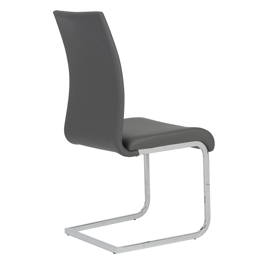 Epifania Gray Leatherette Modern Side Chair