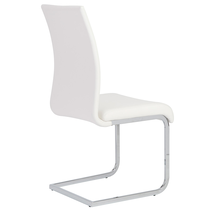 Epifania white Leatherette Contemporary Side Chair