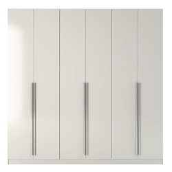 Europe Modern White Wardrobe Armoire Closet