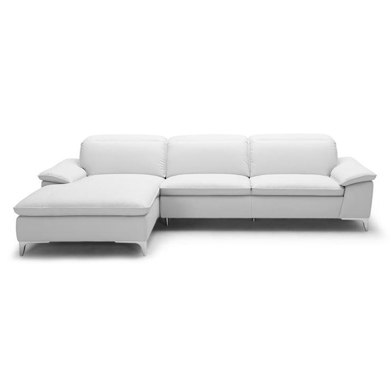 Evigt Modern White Sectional - Left Facing