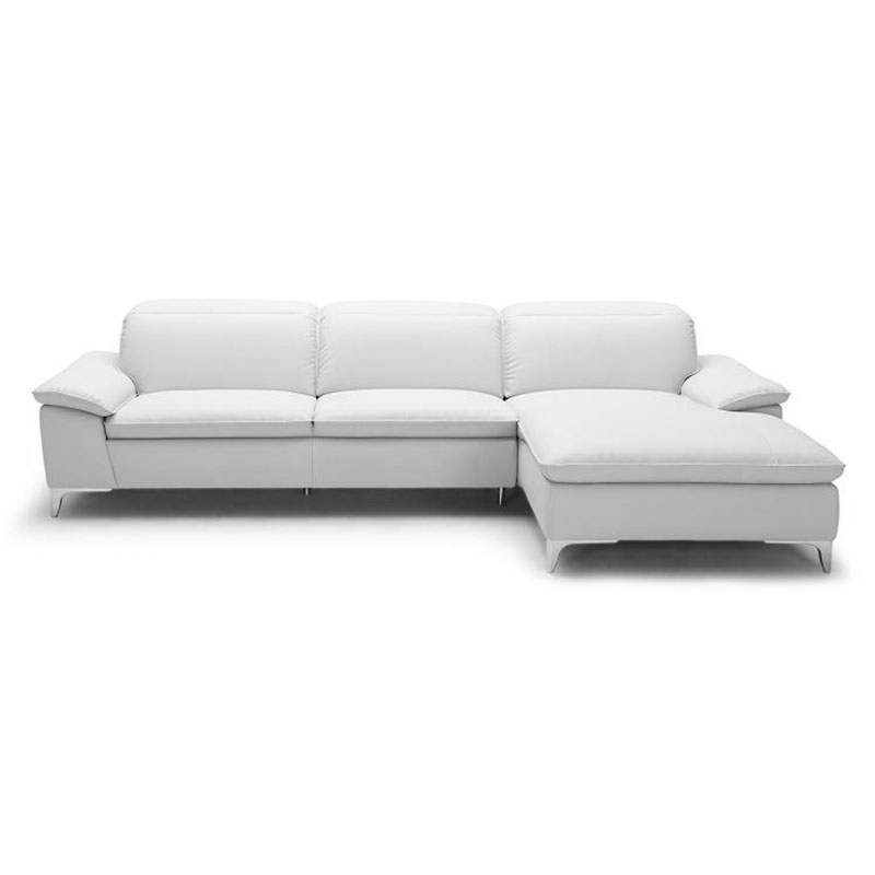 Evigt Modern White Sectional - Right Facing