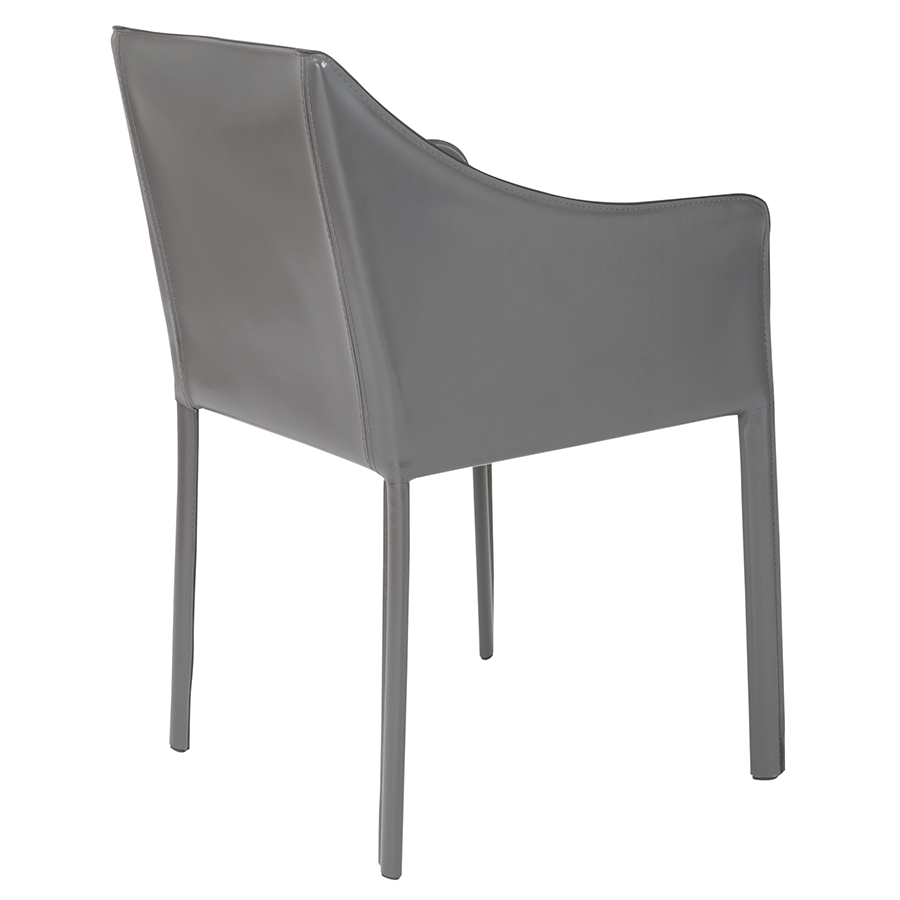 Eysen Anthracite Leather Contemporary Arm Chair