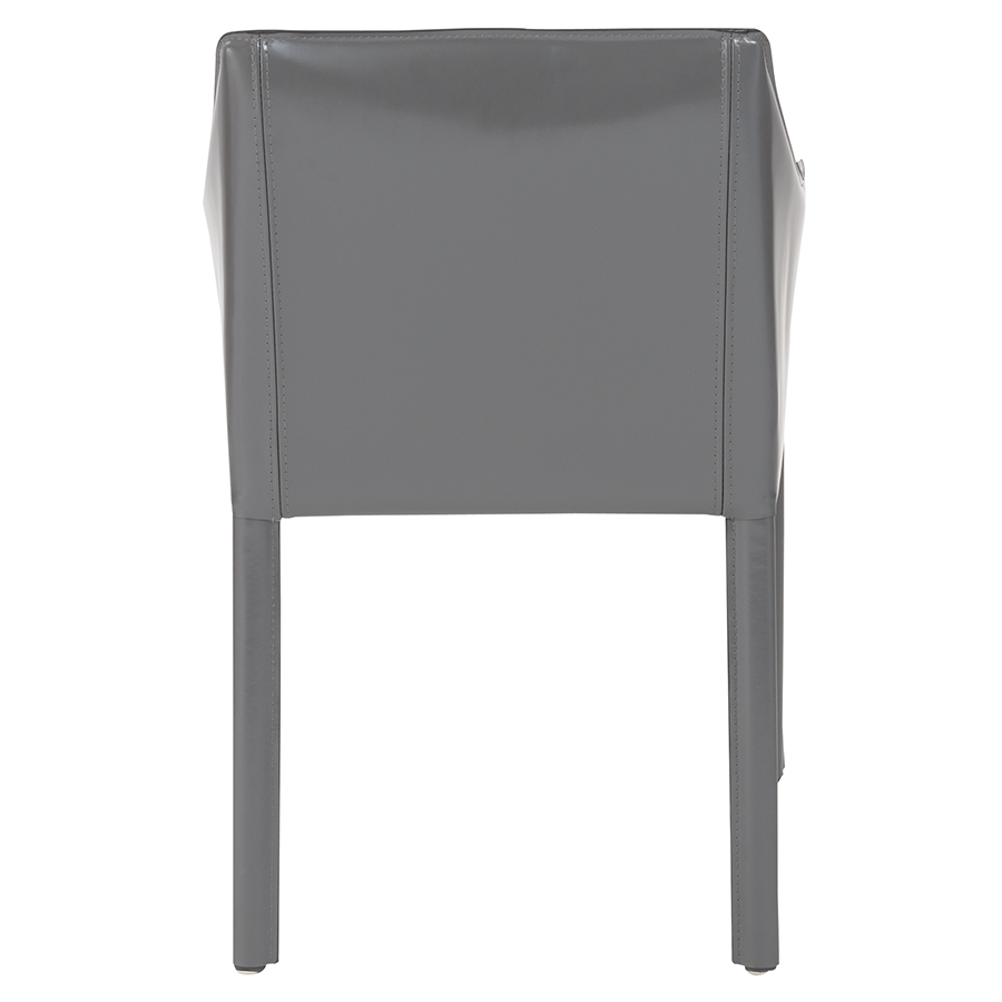 Eysen Antrhacite Leather Contemporary Side Chair