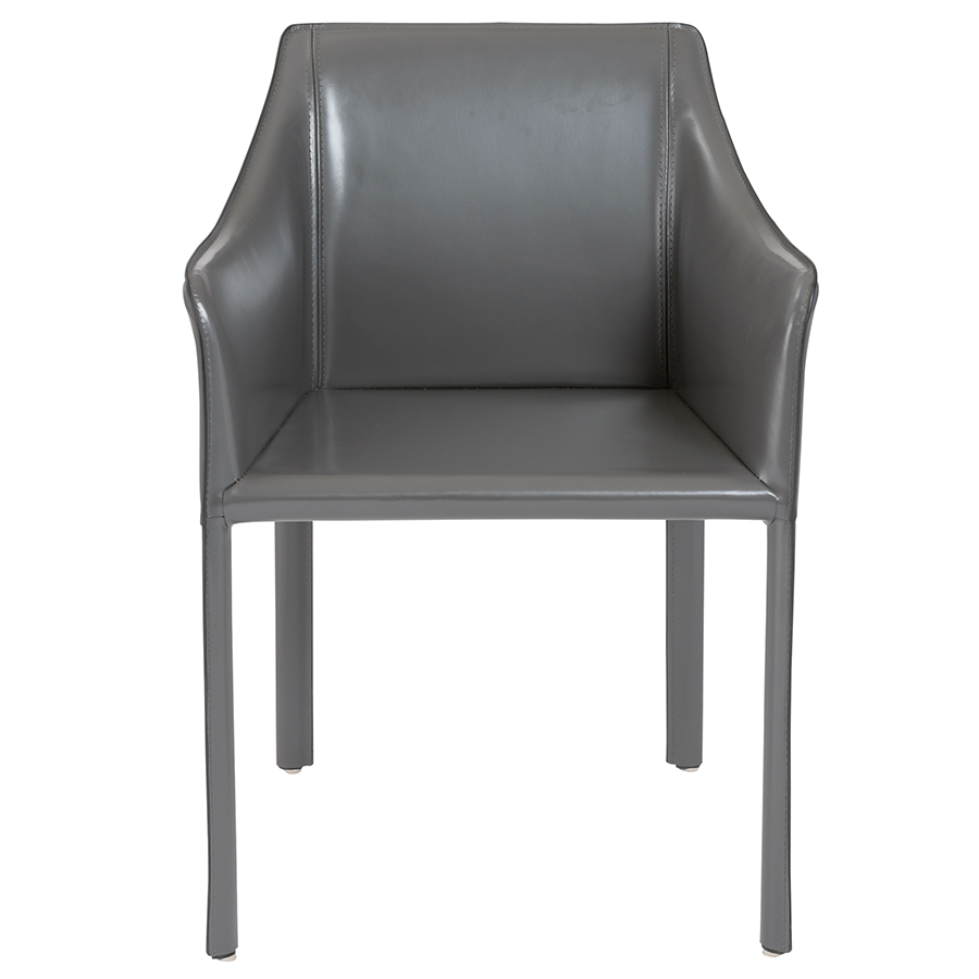 Eysen Anthracite Contemporary Arm Chair