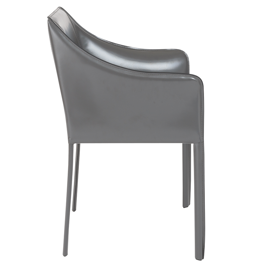 Eysen Anthracite Leather Modern Arm Chair