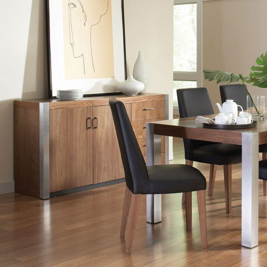 Fabian Contemporary Walnut Dining Collection
