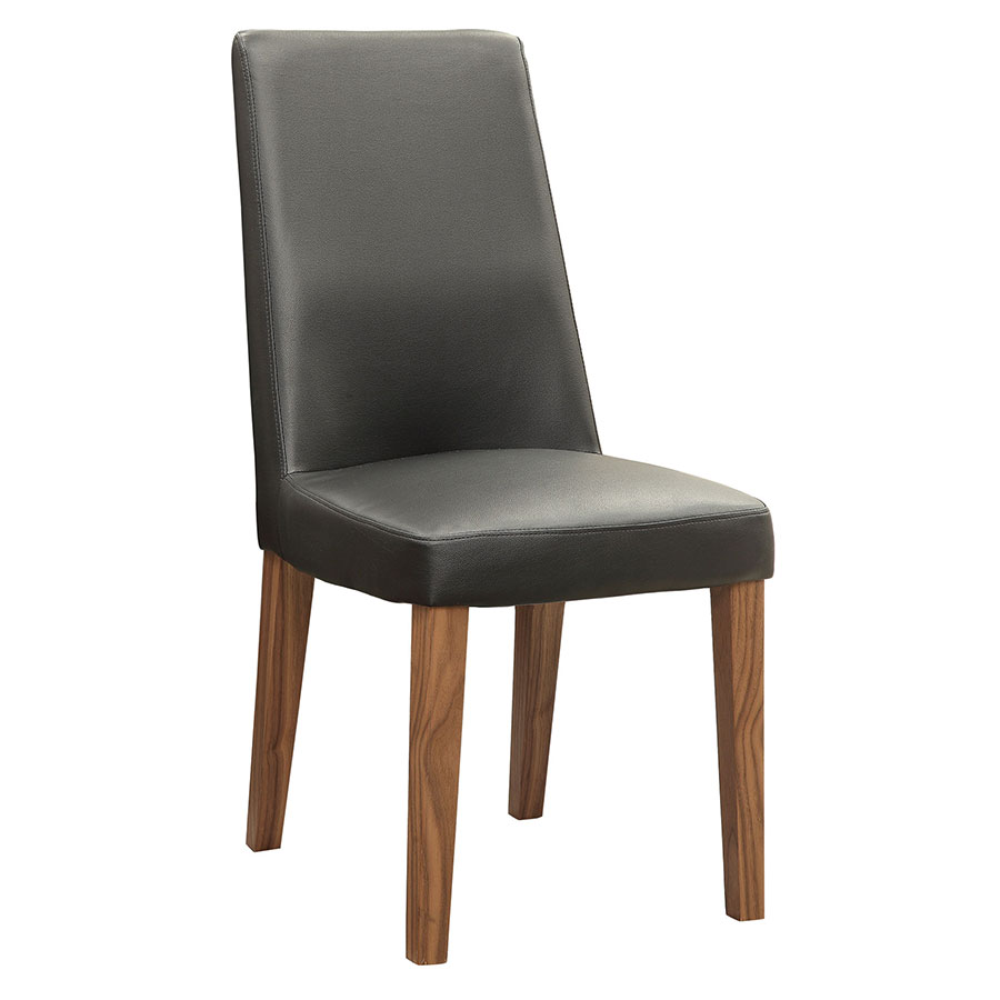 Fabian Modern Side Chair with Black Leatherette