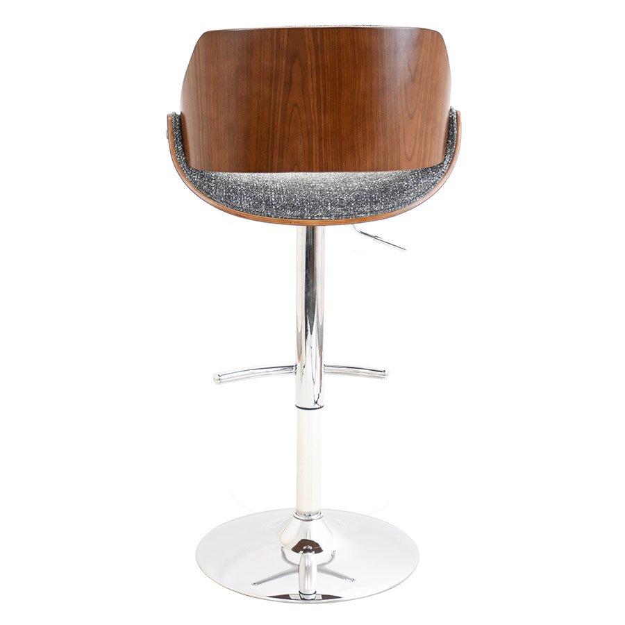Fabien Gray + Walnut Modern Adjustable Stool