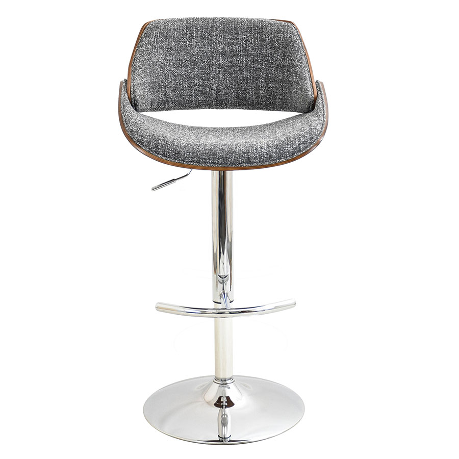 Fabien Gray Contemporary Adjustable Stool
