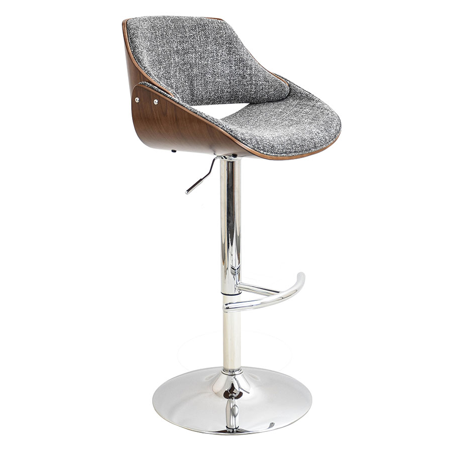 Fabien Gray Modern Adjustable Stool