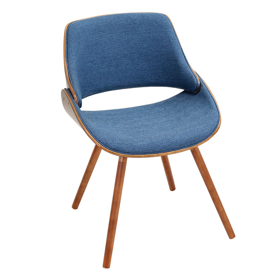 Fabien Blue Modern Side Chair