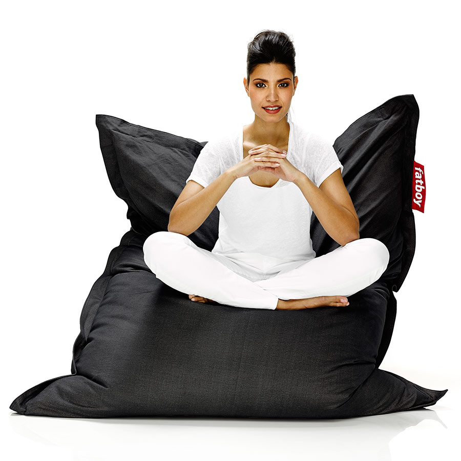 Fatboy Stonewashed Beanbag in Black
