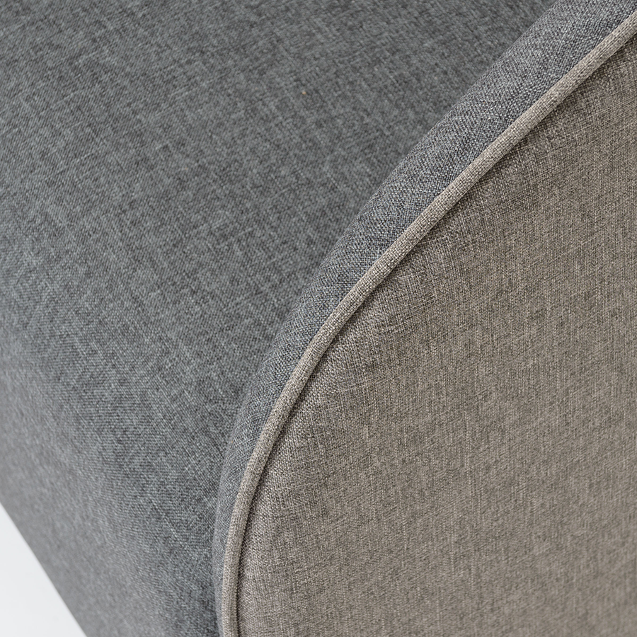 Fela Charcoal Modern Lounge Chair Detail