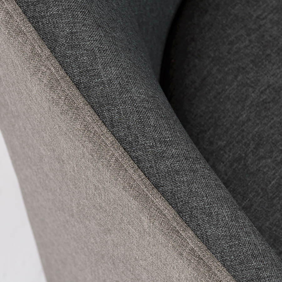 Fela Charcoal Contemporary Arm Chair Detail