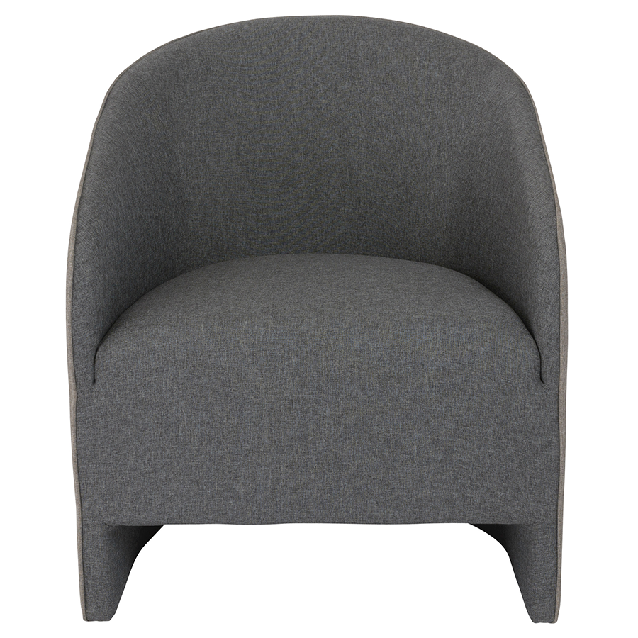 Fela Charcoal Contemporary Lounge Chair