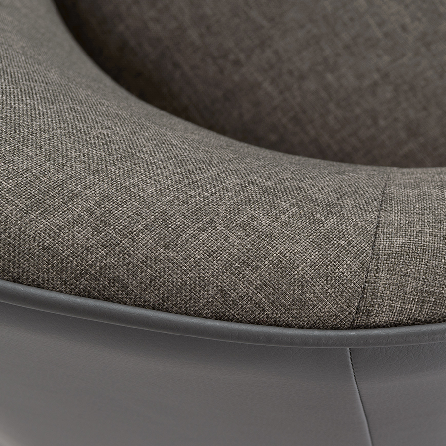 Fela Gray Modern Lounge Chair Detail