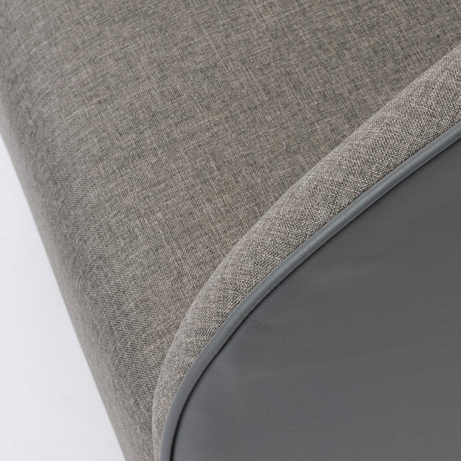 Fela Gray Contemporary Lounge Chair Detail
