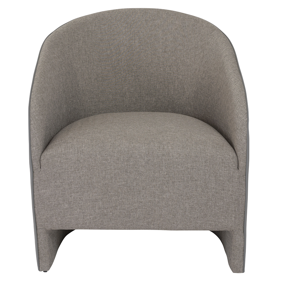 Fela Gray Contemporary Lounge Chair