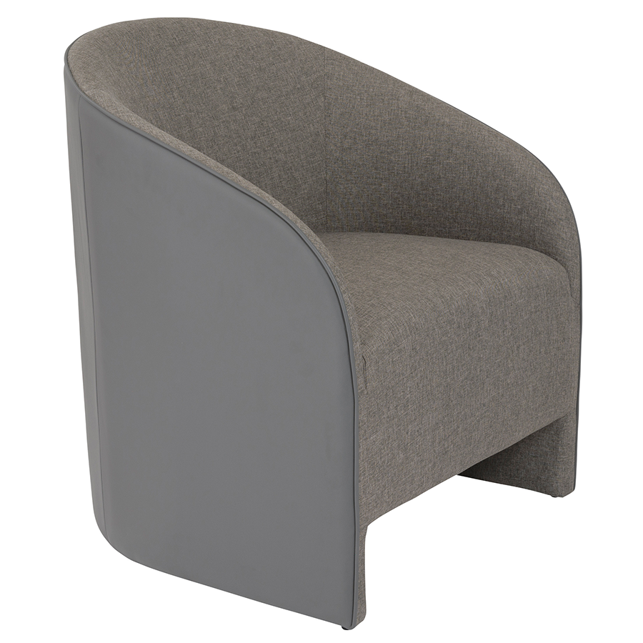 Fela Gray Modern Lounge Chair