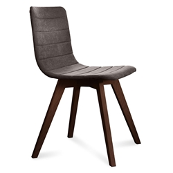 Feodor Chocolate + Brown Modern Dining Chair