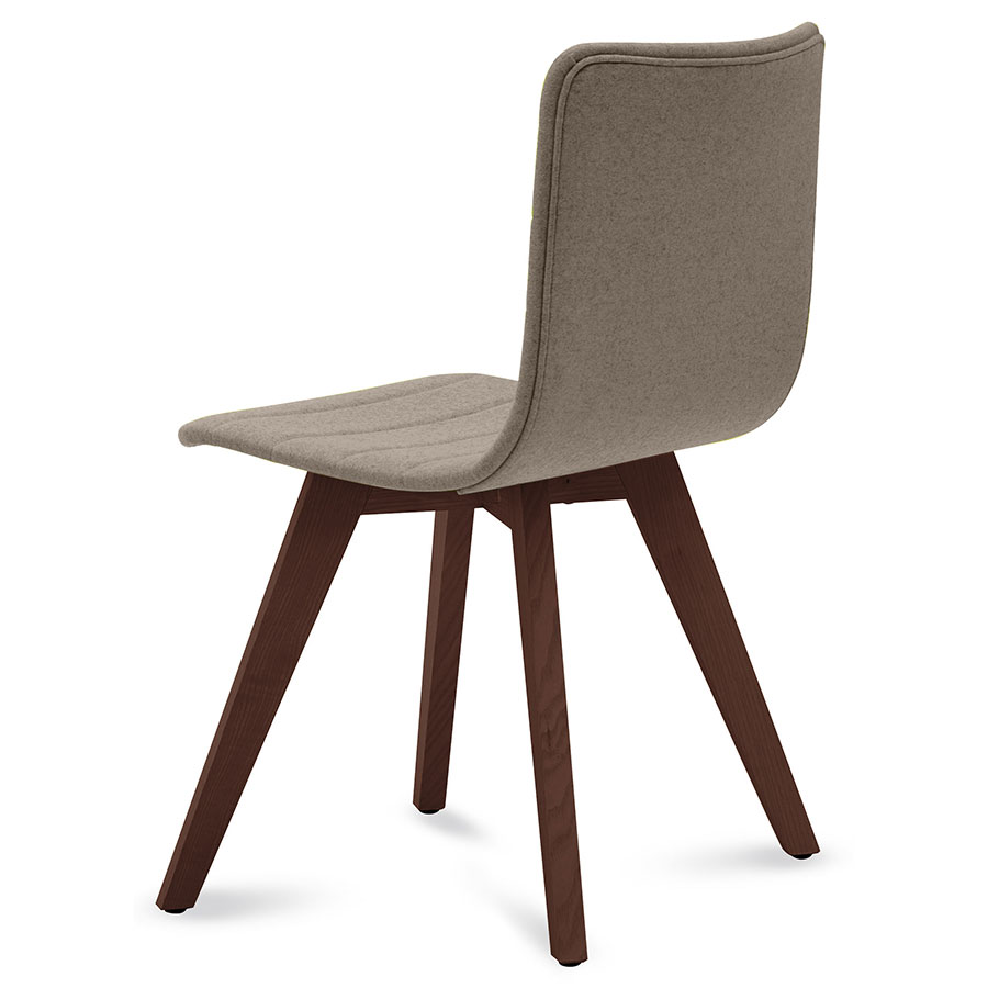 Feodor Chocolate + Tan Contemporary Side Chair