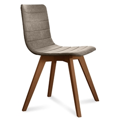 Feodor Walnut + Tan Modern Dining Chair