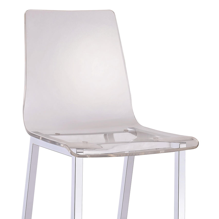 Ferguson Modern Clear Counter Stool - Seat Detail