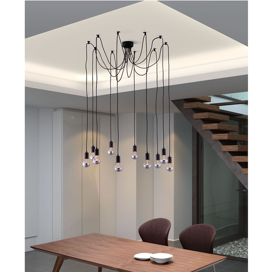 Figaro Black Contemporary Hanging Lamp