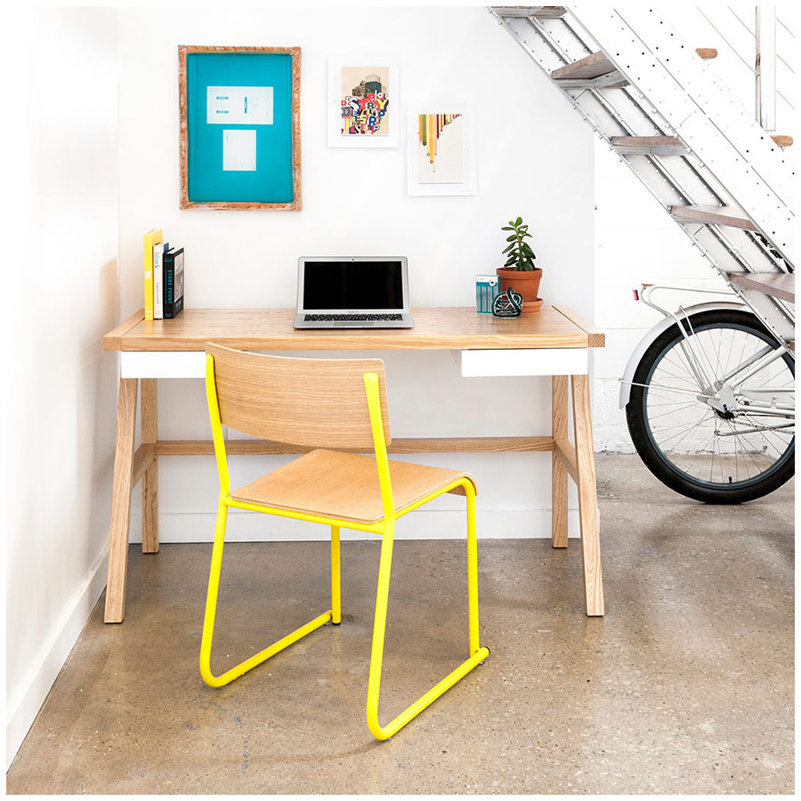 Finch Home Office Desk in Ash Wood by Gus Modern