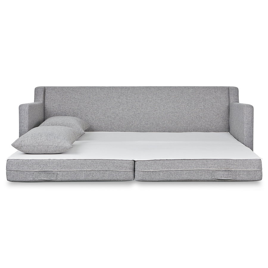 Gus* Modern Flipside Sofa Bed in Parliament Stone Upholstery