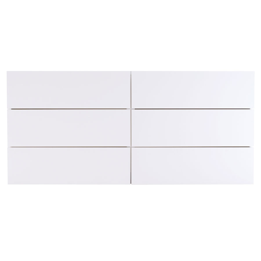 Float White Contemporary Dresser Front