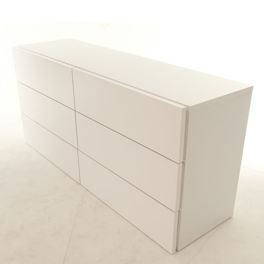 Float White Contemporary Dresser Room