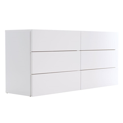 Float White Contemporary Dresser