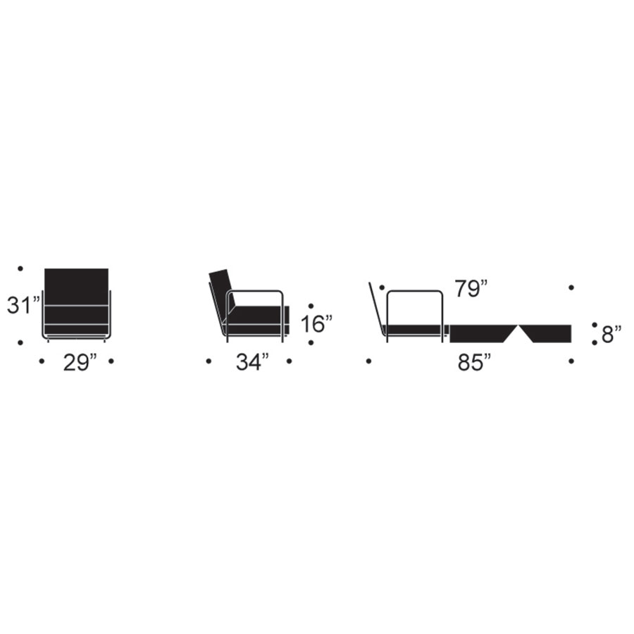 Fluxe Modern Lounge Chair Dimensions