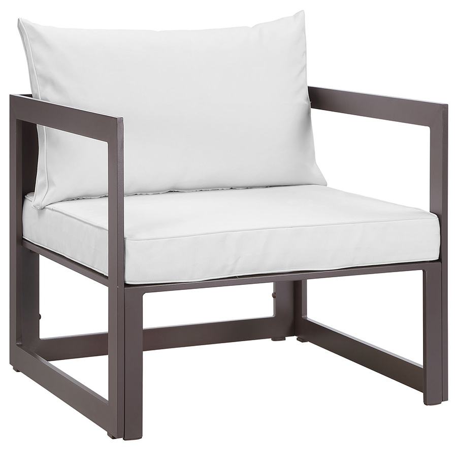 Fontana Brown + White Modern Outdoor Chair