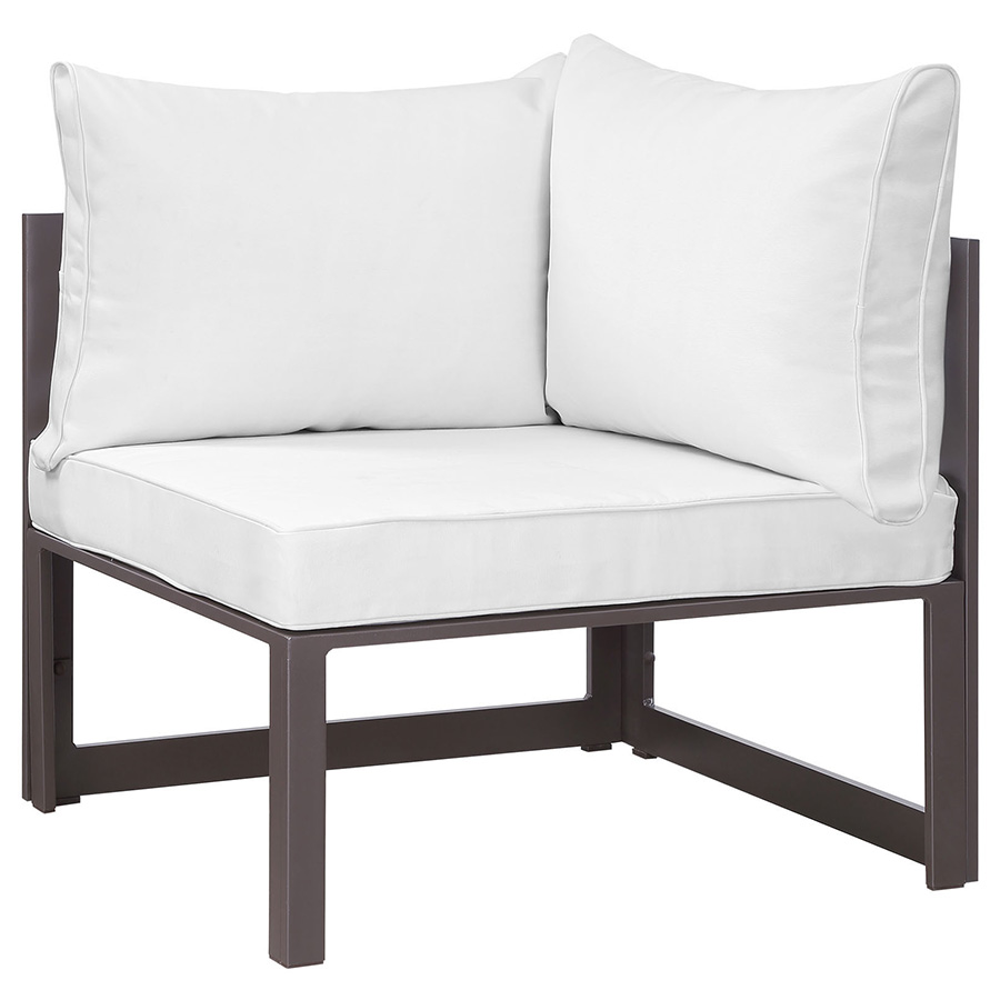 Fontana Brown + White Modern Outdoor Corner Chair