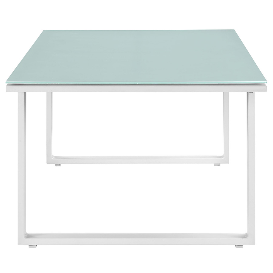 Fontana White Modern Outdoor Cofee Table - Front View