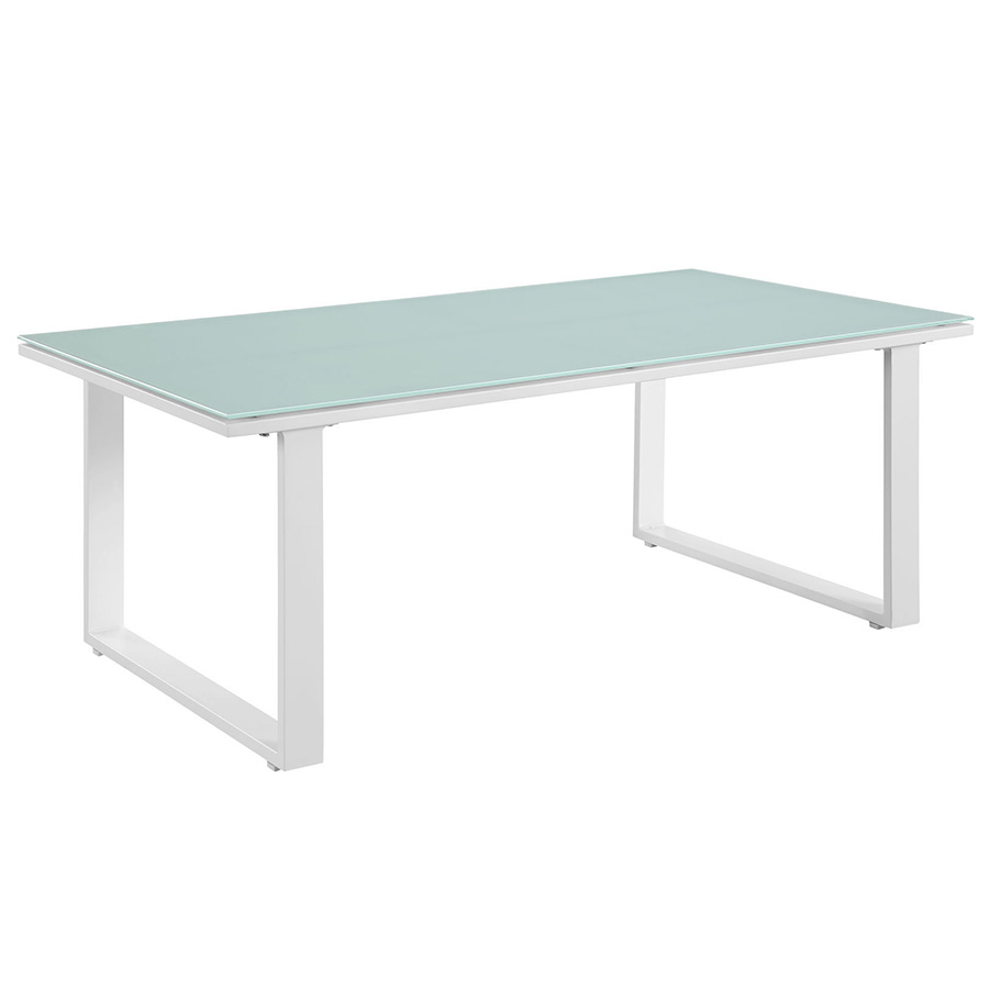 Fontana White Modern Outdoor Cofee Table