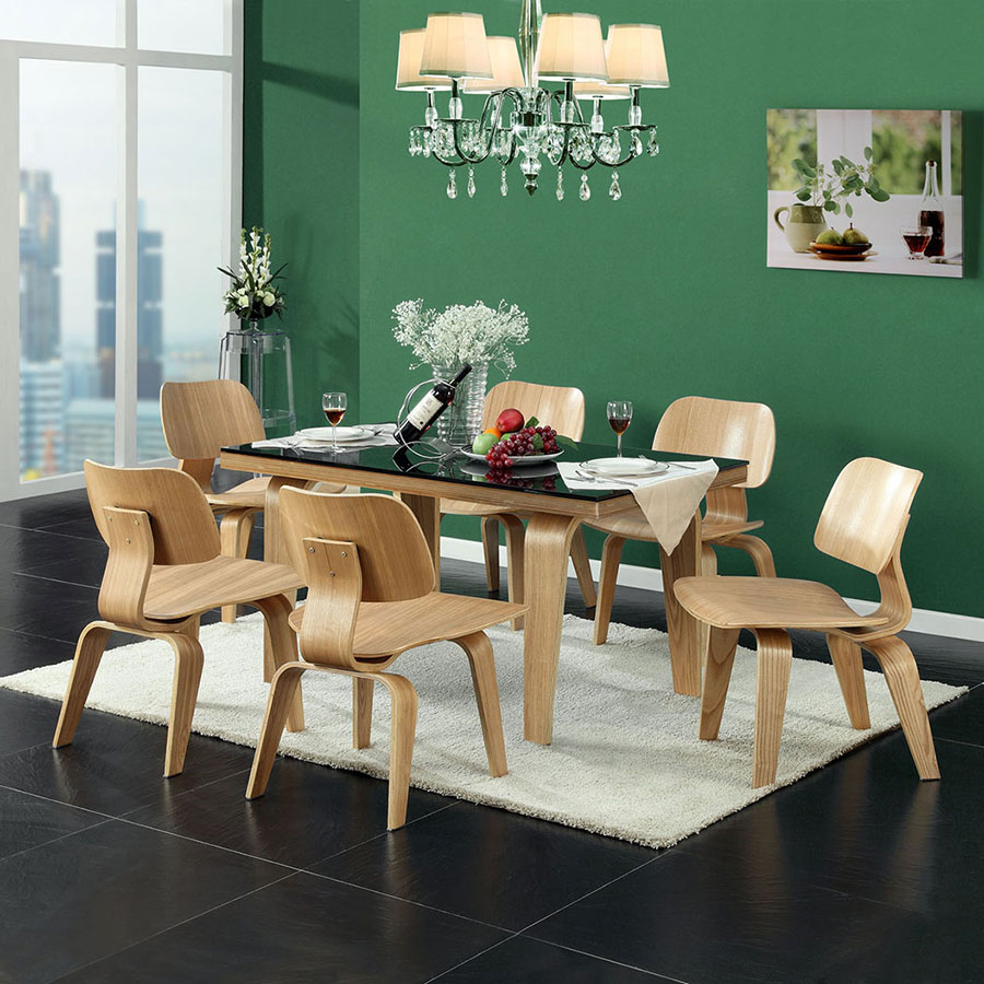 Plywood Natural Plywood Modern Side Chair