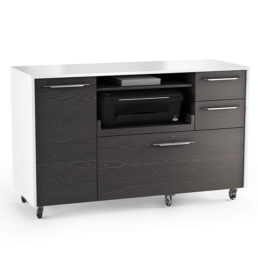 Format charcoal modern mobile credenza by bdi eurway - Mobile credenza ...