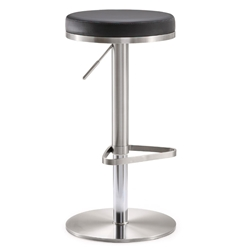 France Modern Black Adjustable Height Stool