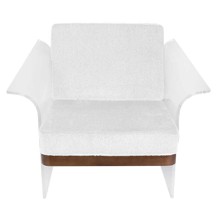 Fulton White Contemporary Chair