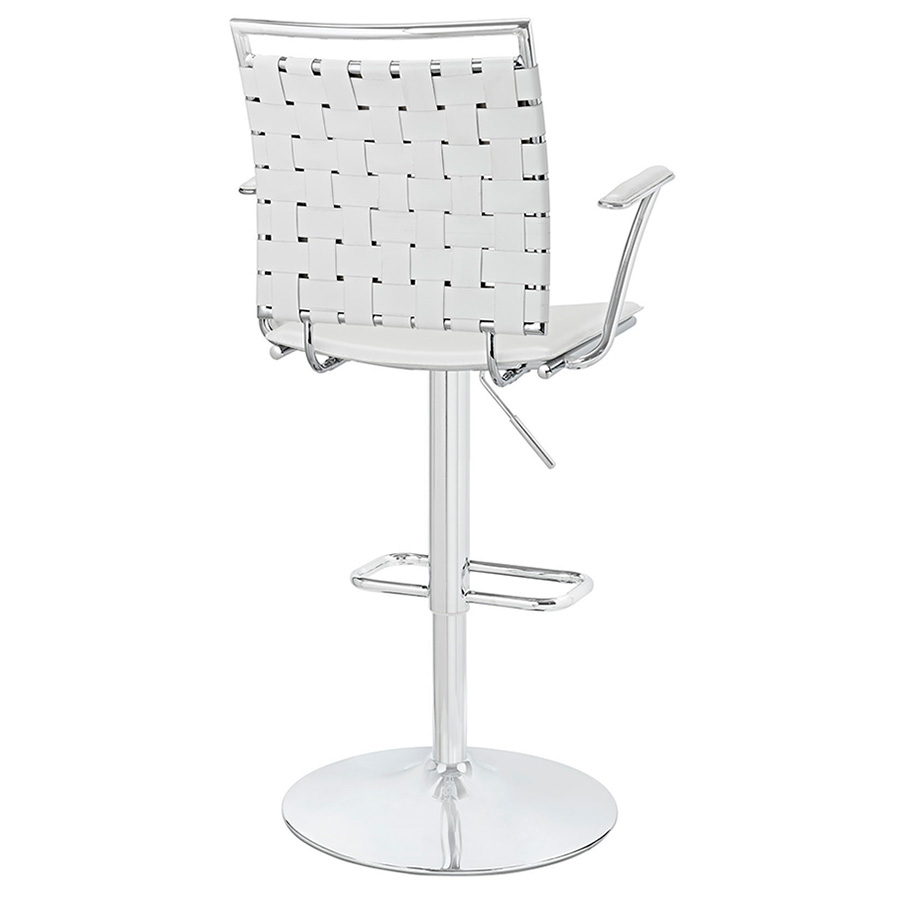 Fusion Modern White Adjustable Stool - Back View